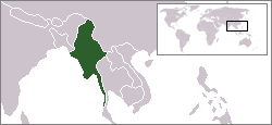 Location of Myanmar