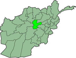 Map showing Bamiyan province in Afghanistan