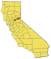 Image:California map showing Placer County.png