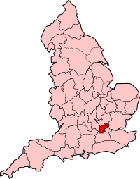 Middlesex as an  before the creation of  in .