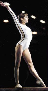 Comaneci at the 1976 Montreal Olympics