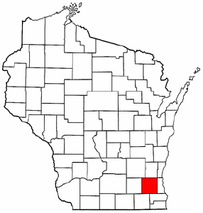 Image:Map of Wisconsin highlighting Waukesha County.png