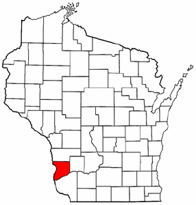Image:Map of Wisconsin highlighting Crawford County.png