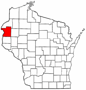 Image:Map of Wisconsin highlighting Polk County.png