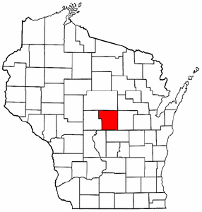 Image:Map of Wisconsin highlighting Portage County.png