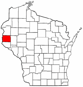 Image:Map of Wisconsin highlighting St. Croix County.png