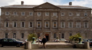 Leinster House18th century ducal palace now the seat of parliament.
