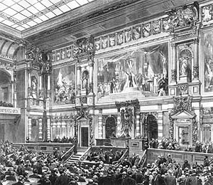 The opening of the German parliament in 1894