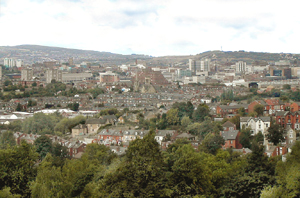 Panorama of Sheffield (centre and north) 2004