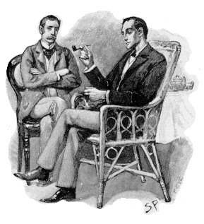 Sherlock Holmes (right) and Dr. Watson, by