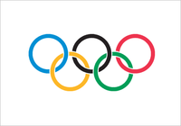 The five Olympic rings were designed in 1913, adopted in 1914 and debuted at the Games at .
