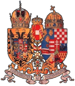 Coat of Arms of Austria-Hungary, adopted in  to emphasize the unity of the Empire during .