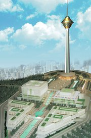 's  is the world's fourth tallest free standing structure at 435 m.