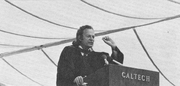 Feynman during his famous  speech at the   commencement address.