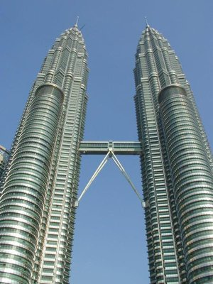 Kuala Lumpur's landmark, the Petronas Twin Towers, one of the tallest buildings in the world