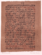Ebers Papyrus treatment for :  a mixture of  heated on a brick so that the sufferer could inhale their fumes.
