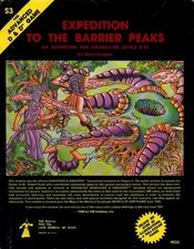 S3: Expedition to the Barrier Peaks was one of the few adventures released by  to include  elements, such as  and .