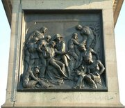 North side of the plinth, depicting the Death of Nelson, by J. E. Carew