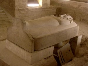 Stone sarcophagus of