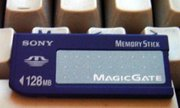128 MB Memory Stick with MagicGate support