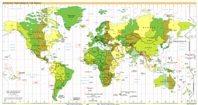 Standard Time Zones of the World by the CIA