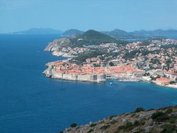 A view of Dubrovnik from the south
