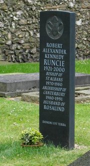 Grave of Lord Runcie at