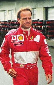 Rubens Barrichello at the USGP in 2002