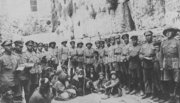 soldiers at the Western Wall after taking part in 1917 British conquest of Jerusalem