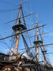 HMS Victory mast and rigging