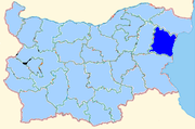 Varna province shown within Bulgaria