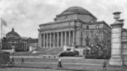 View of Columbia University's Low Library Plaza, c1900
