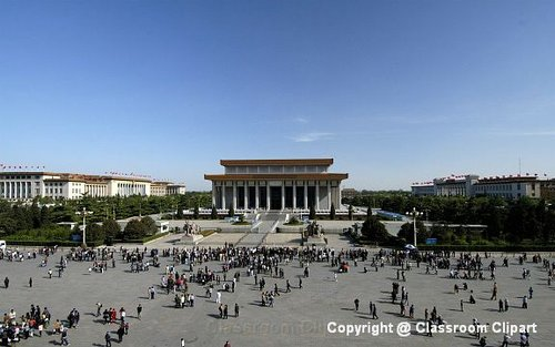 View of Tiananmen Square. Image provided by Classroom Clipart (http://classroomclipart.com)