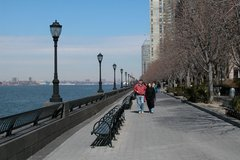 Looking upriver from Battery Park, New York