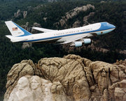Presidential authority, past and present:  flying over