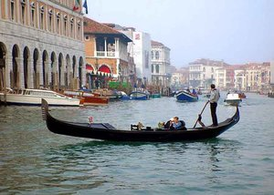 Gondola on one of Venice's many waterways