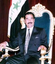 Imprisoned Saddam Hussein