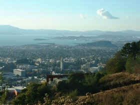 Berkeley as seen from the Claremont Canyon reserve