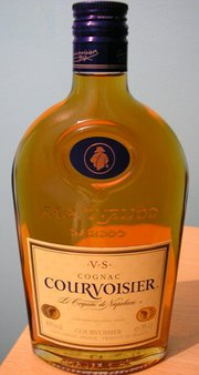 A Courvoisier bottle
