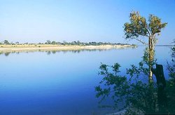 Zambezi River in North Western Zambia