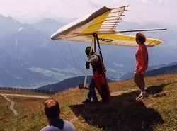 Hang gliding in the Austrian Alps, above Zell am See