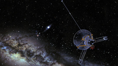 Pioneer 11 at  (artist's impression)