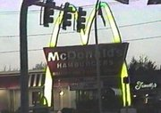 50s-themed McDonald's sign in .