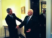 President Bush and Prime Minister Sharon meet in the White House on