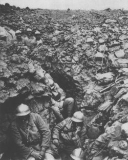 French trench at Côte 304, Verdun, 1916